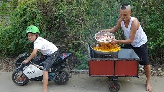 Canh Xương Bí Khổng Lồ - Cười Há Mồm Khi Mao Đệ Kéo Z1000 Đi Chợ Mua Đồ Nấu Ăn