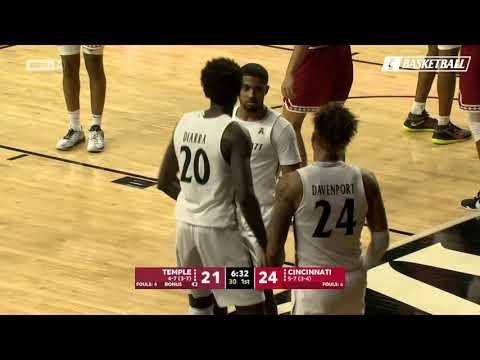 Men's Basketball Highlights: Cincinnati 71, Temple 69 (ESPN+)