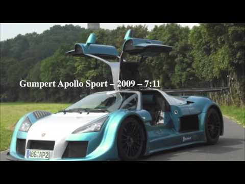 Top 10 Fastest Cars to Lap the Nurburgring [HD]