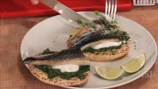 Mackerel Filets on A Pita - Slow Food Fast w/ Kitty Greenwald