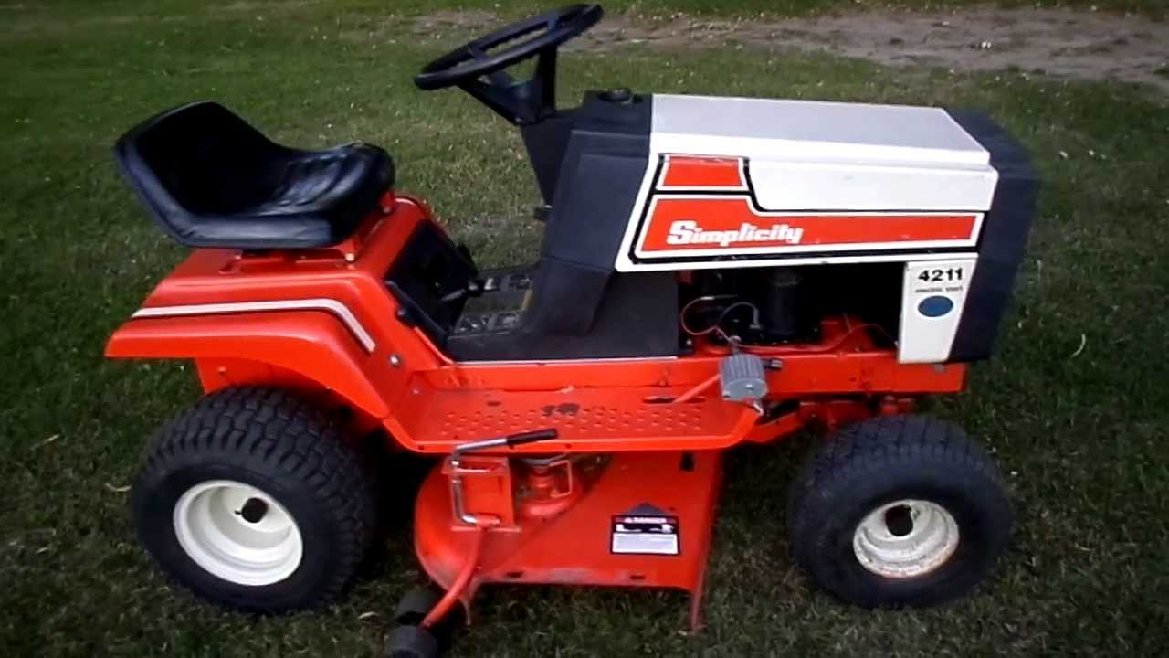 Simplicity Lawn Mower Diagram Free Wiring For You Tractor 1985 4211 11 H P 36 Cut Youtube Belt