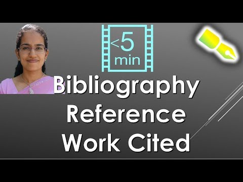 Bibliography Vs. Reference Vs. Work Cited (Research) - Important