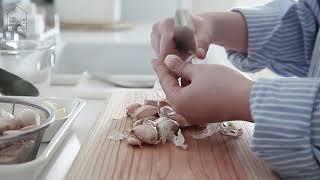 스텐 마늘 으깨기 사용방법