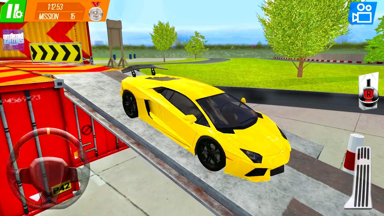 Yellow Lambo Driving - Performance Cars Drive On Trial Tracks #7 - Android Gameplay