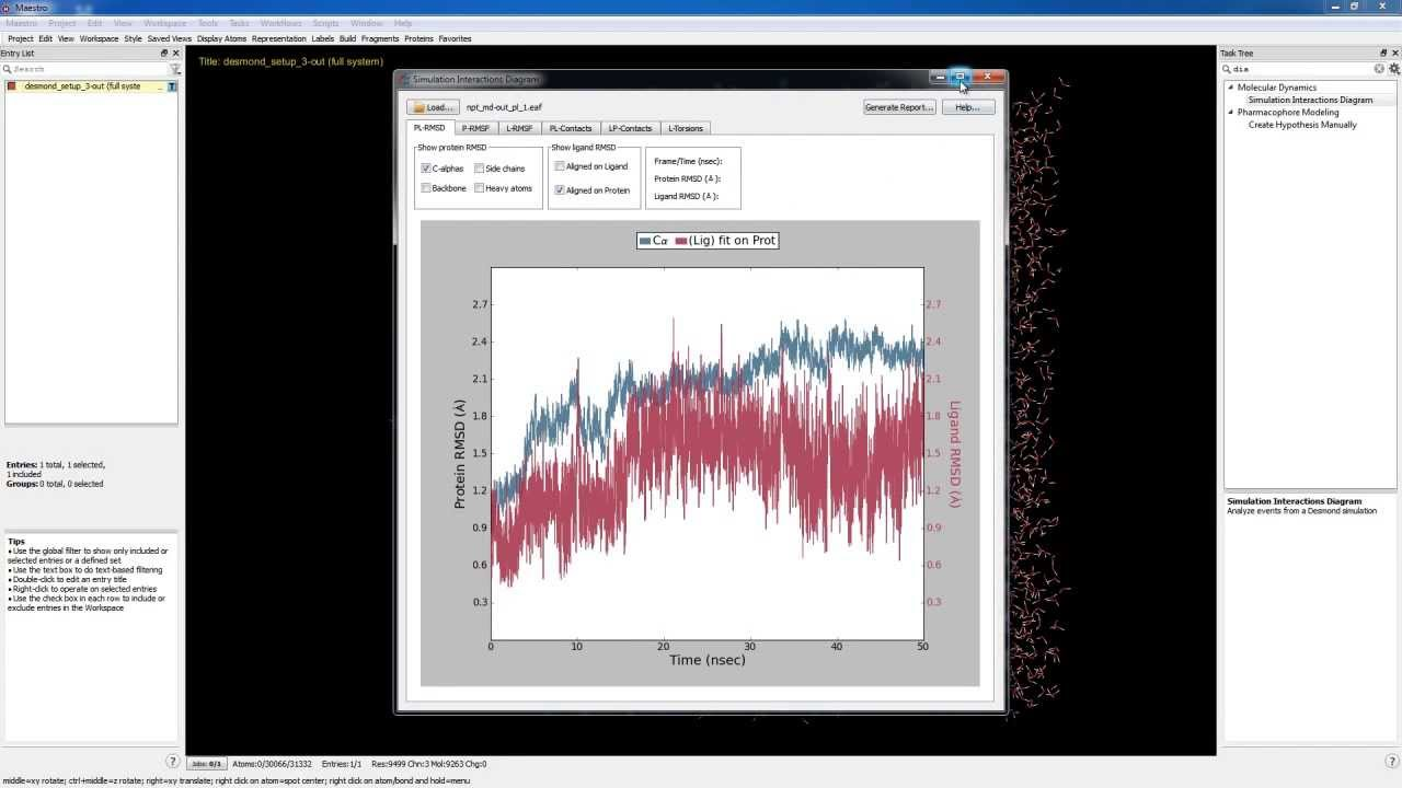medium resolution of desmond analyzing md trajectories with the simulation interactions diagram part 4