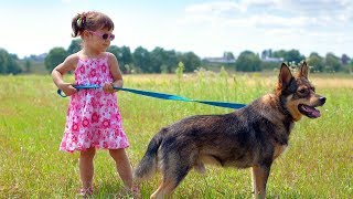 Cute Babies Walking Dogs Compilation