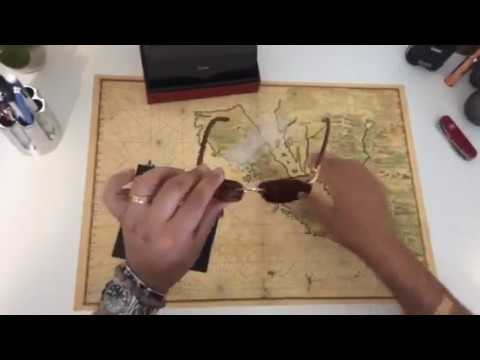 Unboxing cartier c decor sunglasses bubinga wood gold
