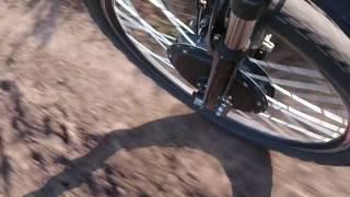 Мотор колесо в действии(Тест мотор колеса на тропинке, около леса. / Мотор колеса и АКБ купить можно на алиэкспресс http://ali.pub/vzrdy и..., 2013-09-12T20:11:59.000Z)