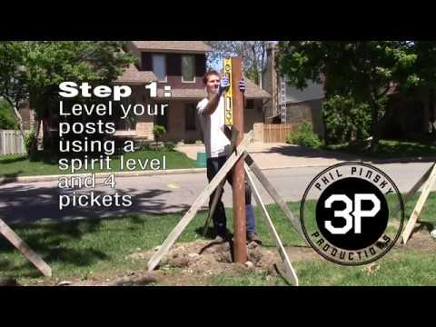 setting fence posts with sika post fix in 1 minute youtube. Black Bedroom Furniture Sets. Home Design Ideas