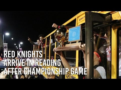 Red Knights Arrive in Reading after Championship Game