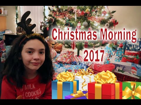 Opening Presents Christmas Morning 2017  Cammi TV