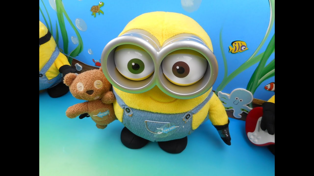 Lovely MINIONS MOVIE EXCLUSIVE PLUSH MINION BOB WITH HIS TEDDY BEAR TIM