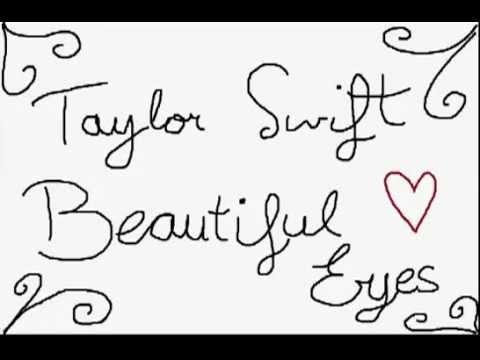 Taylor Swift Beautiful Eyes Animation