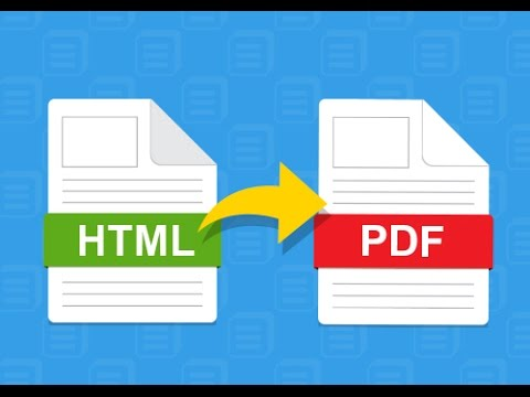 HTML to PDF using JavaScript/jQuery - YouTube