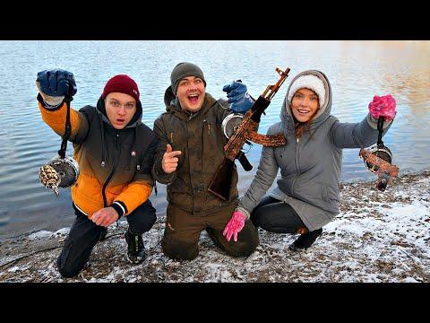 Кто достанет больше жутких находок на магнитной рыбалке с помощью поискового магнита получит 1000$