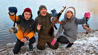 Кто достанет больше жутких находок на магнитной рыбалке с помощью поискового магнита получит 1000