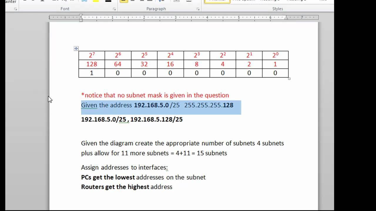 subnet a network and provide additional subnets youtube