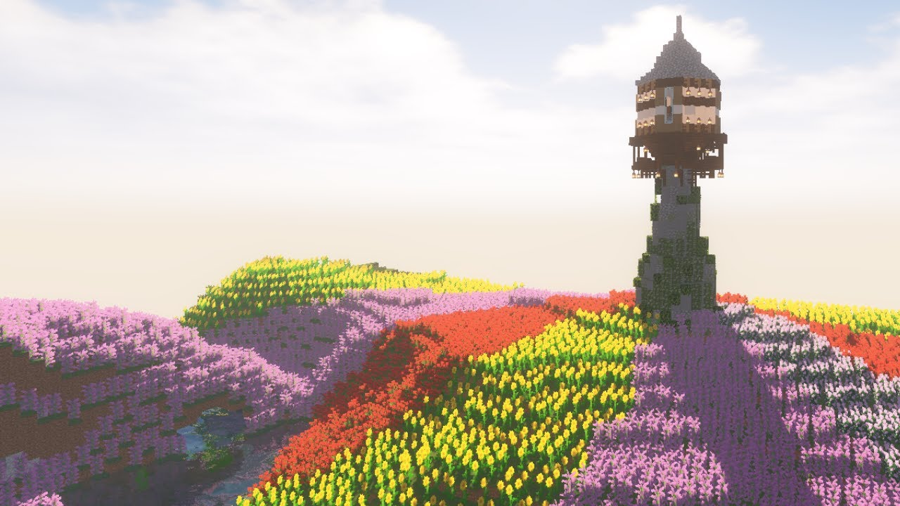 "Minecraft: How to build ""Flower Farm"" house"