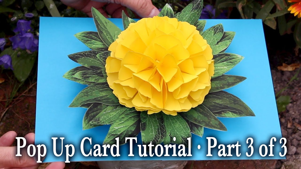 Flower Pop Up Card Tutorial Part 3 of 3 - YouTube