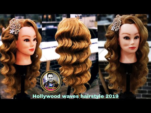 Hollywood Waves Hairstyle 2019/ How To Do Hollywood Waves Hairstyle/ Bollywood Waves Tequnic