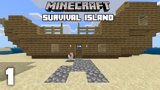 Minecraft: Shipwrecked Starter House - Survival Island [1]
