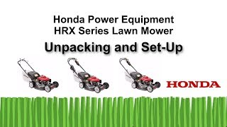 HRX217 Series Lawn Mower Unpacking and Setup