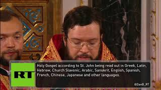 Orthodox Easter service in Moscow