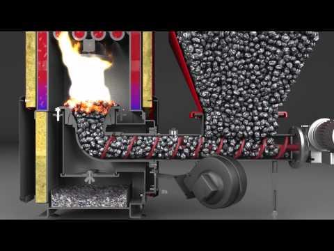 Solid-Fuel Boiler Presentation CGI animation
