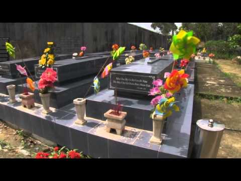 Cementerio de no nacidos en Tan Bien, Vietnam.