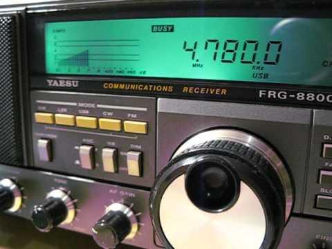 Radio Djibouti 4780 khz, received on a Yaesu FRG 8800 in Germany