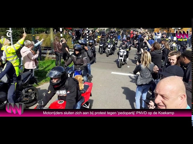 Demonstratie Koekamp Den Haag Protest tegen de heroprichting van de pedo partij PNVD