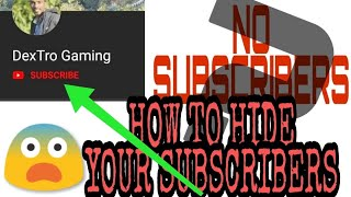 How to Hide subscribers from your viewers 🔥🔥 | Very Easy steps |