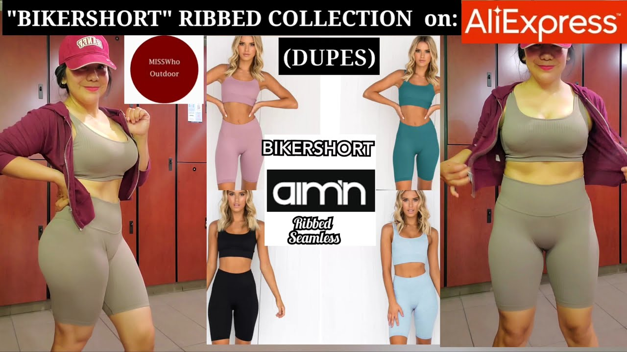 """#BIKERSHORTS Aim'n Ribbed SEAMLESS REPLICA DE Aliexpress"""
