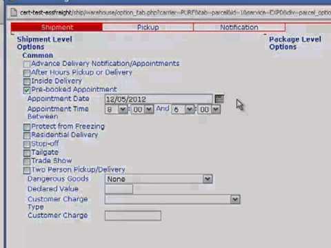 Purolator Freight® On Purolator E-Ship® Server (ESS) -- Create A Shipment