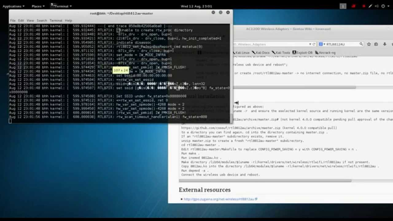How to Install Alfa AWUS036AC Wireless Driver on Kali Linux 2 0