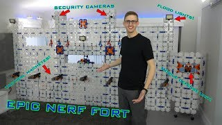 EPIC NERF FORT   ULTIMATE TACTI-COOL CASTLE!