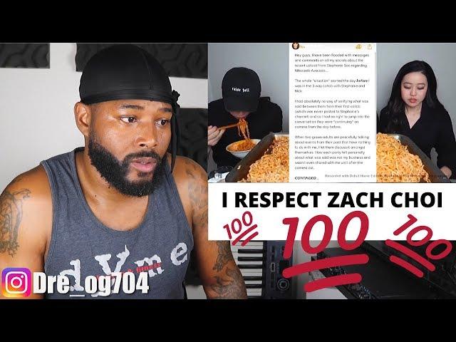 Zach Choi Responds To Stephanie Soos Video My Reaction Youtube