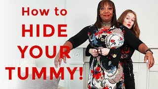 How to hide your tummy for women over 40 - style makeover for women over 40