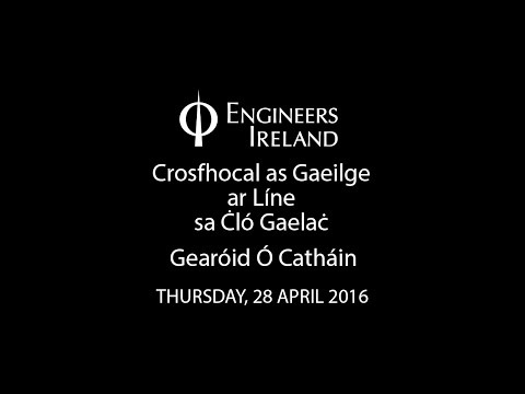Crosfhocal as Gaeilge