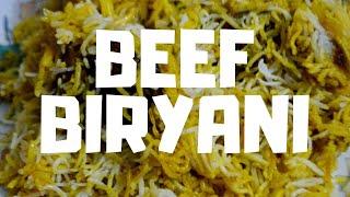 BEEF BIRIYANI BY CHEF INSAF.