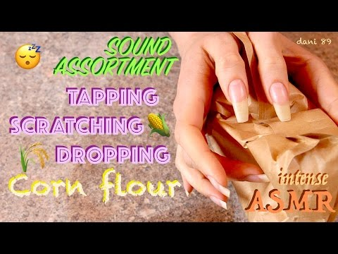 ✦ INTENSE ear-to-ear 🎧 binaural ASMR: NATURAL NAILS in SOUND ASSORTMENT: carton, table, corn flour ❀
