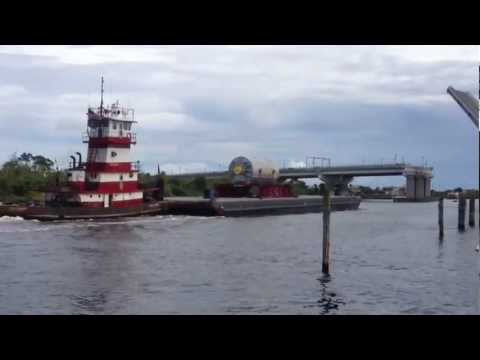 Barge with loud air horn