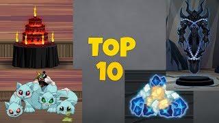 AQW - TOP 10 HOUSE ITEMS DROPS