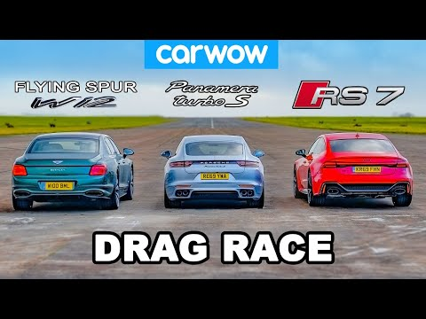 Bentley Flying Spur vs Audi RS7 vs Porsche Panamera Turbo S – DRAG RACE!