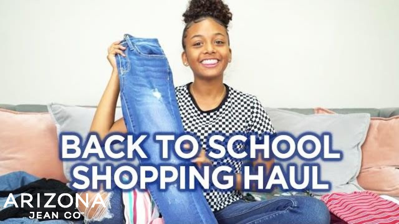 [VIDEO] - Back to School Shopping Haul + Try On with LexiVee03 | Arizona Jean Co 3