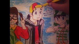 Speed Drawing(Chiquinha,Chaves e Kiko)El Chavo