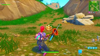 SEARCH BETWEEN A GAS STATION, SOCCER PITCH AND STUNT MOUNTAIN! FORTNITE WEEK 4 TREASURE MAP LOCATION