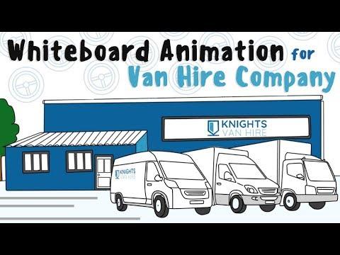 Whiteboard Animation for Van Hire Company | Video Production Company Reading Berkshire