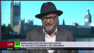 It is a crime for Ecuador's embassy to hold on Assange's belongings - George Galloway