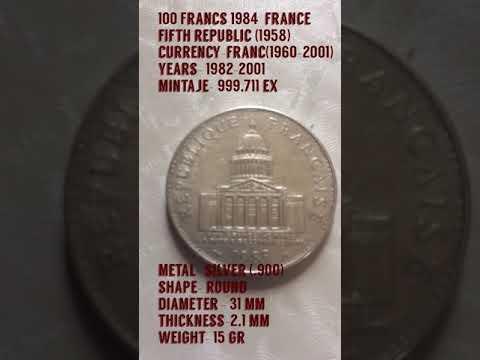 100 FRANCS 1985  FRANCE- FIFTH  REPUBLIC